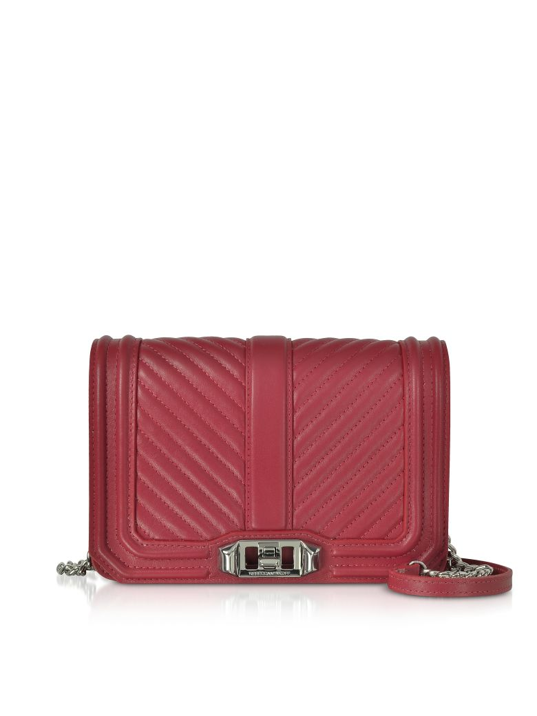 SMALL QUILTED LEATHER LOVE CROSSBODY BAG