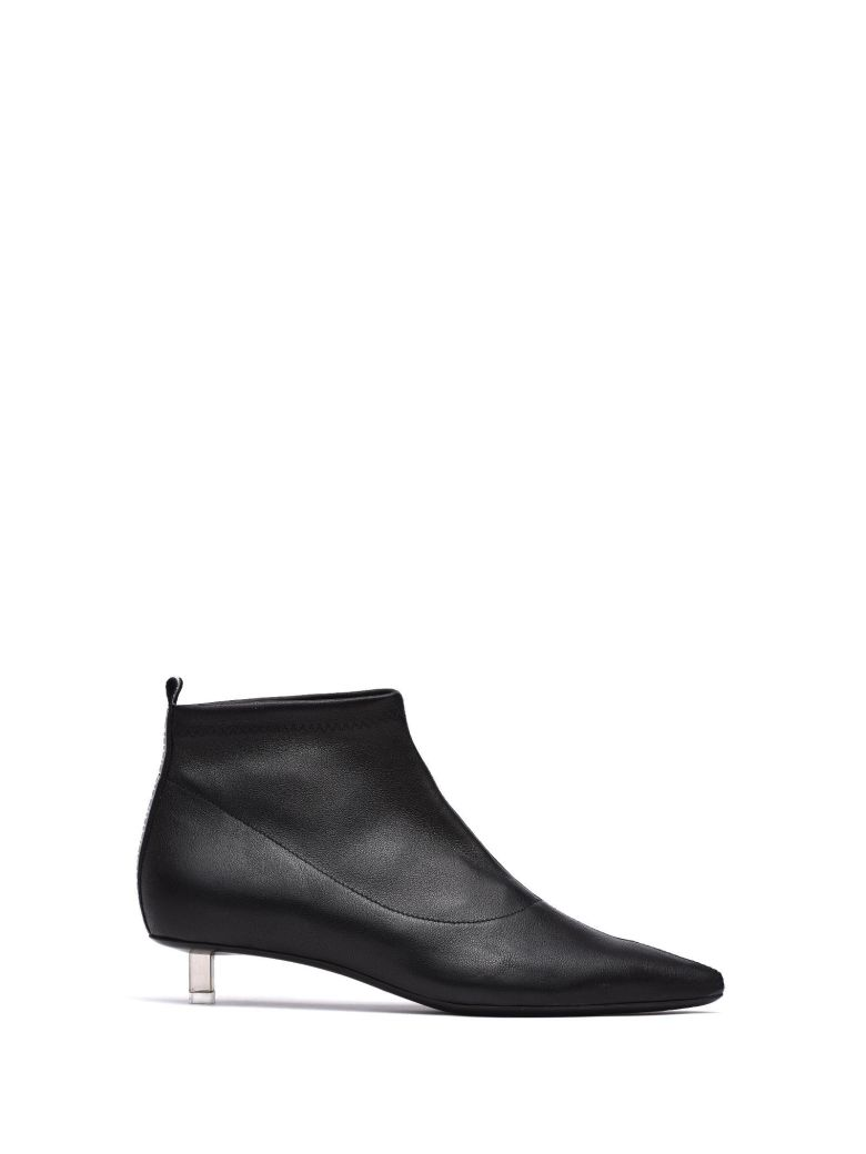 VIC MATIE BLACK STRETCH LEATHER HALF BOOT