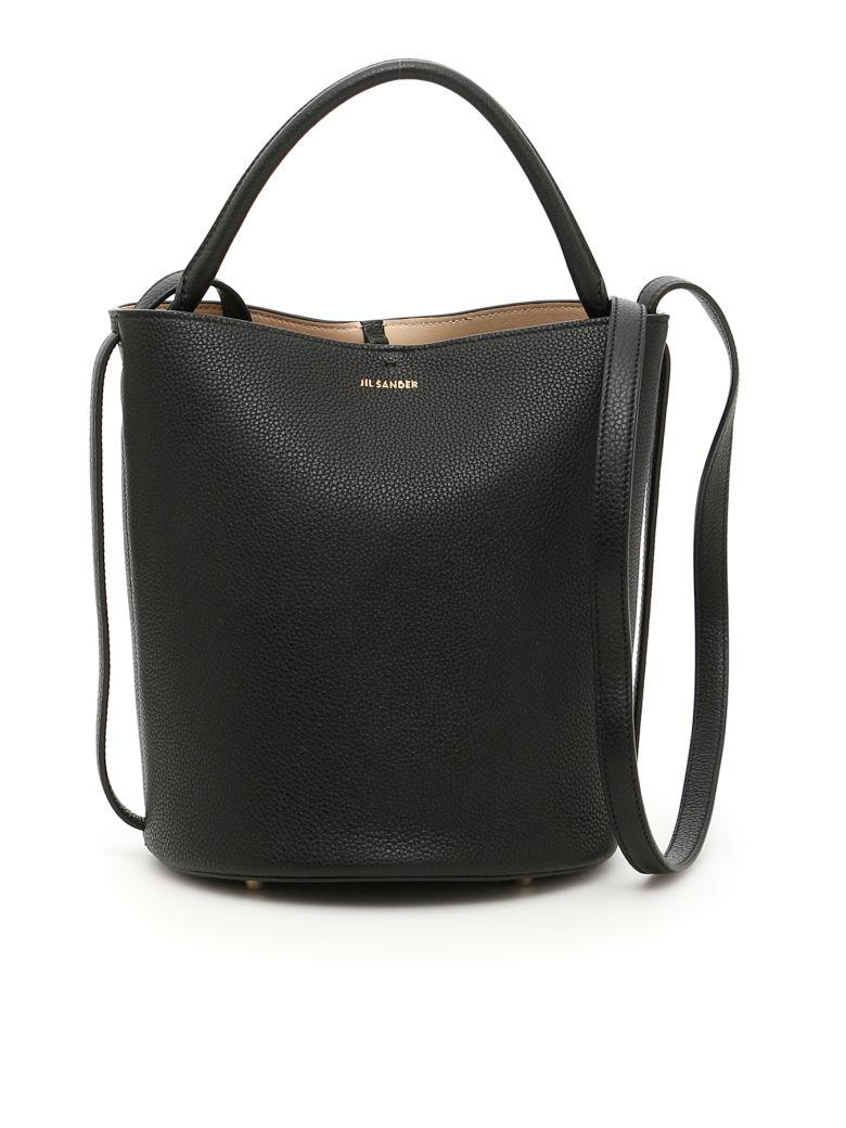 Jil Sander Logo Plaque Bucket Bag In Black  83e0616fd70