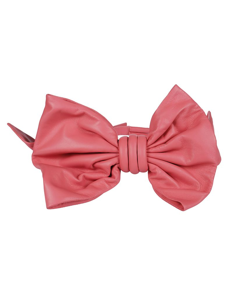 Oversized Bow Belt in Pink