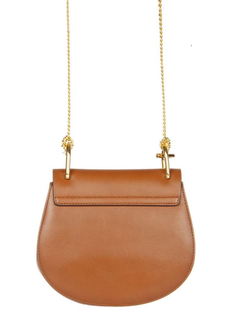 Chloé Mini Drew Tobacco Suede & Leather Bag in Classic Tobacco