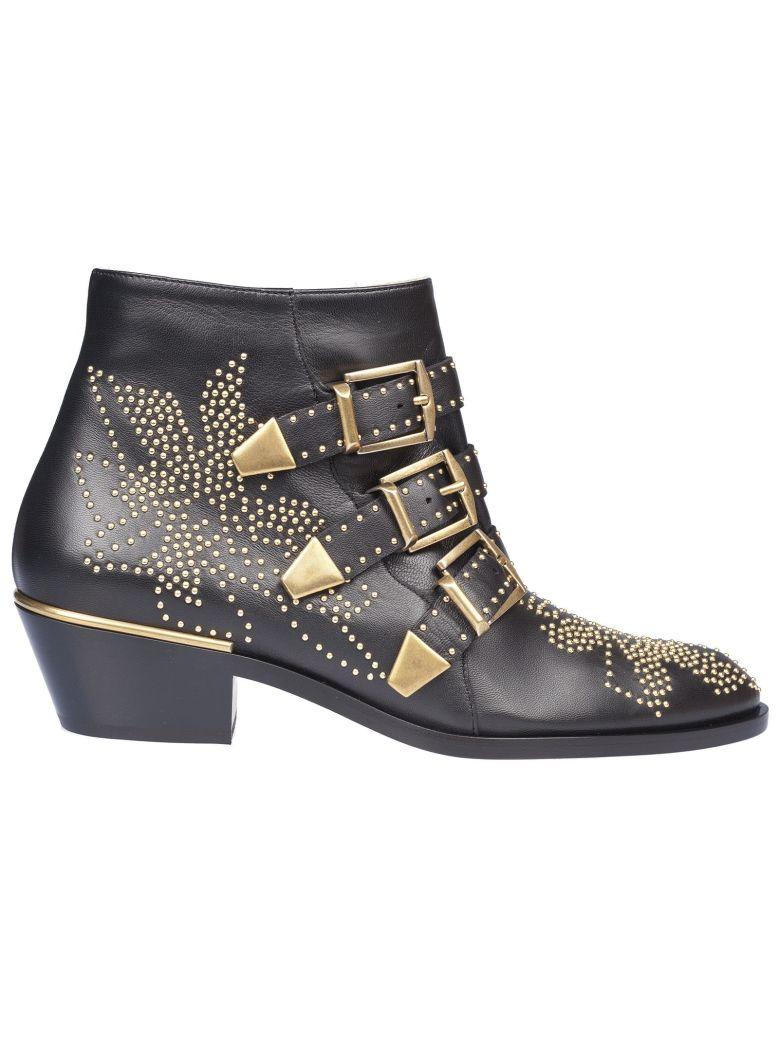 Susanna Ankle Boots, Black/Gold