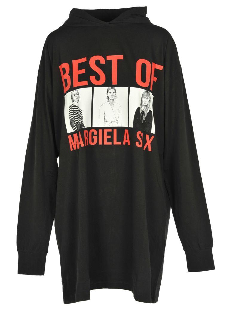 Mm6 Dress Tshirt Over Cap, Black