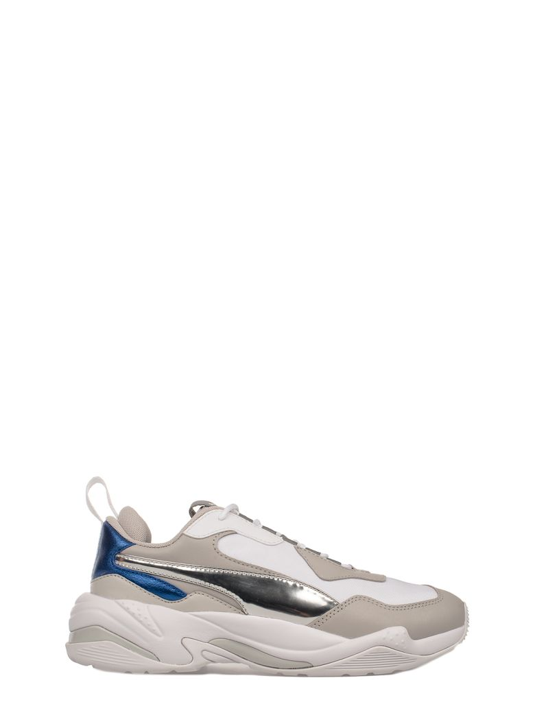 Women'S Thunder Electric Color-Block Lace Up Sneakers, Gray - White - Blue