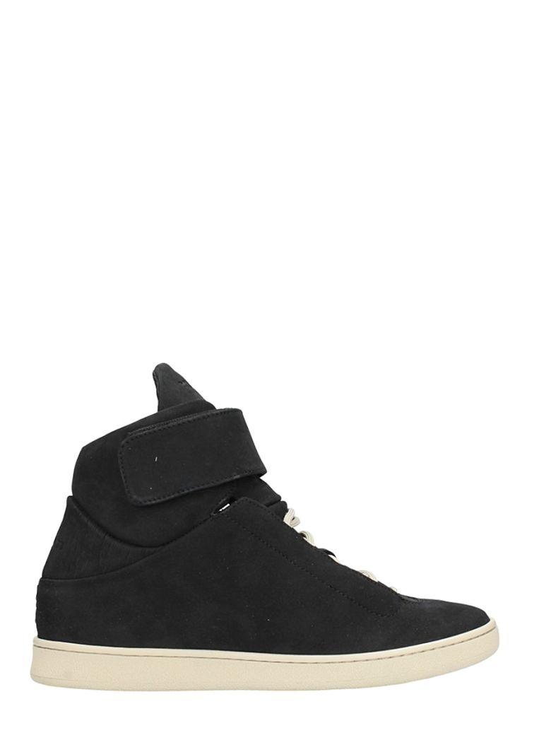 YLATI FOOTWEAR BLACK SUEDE SNEAKERS