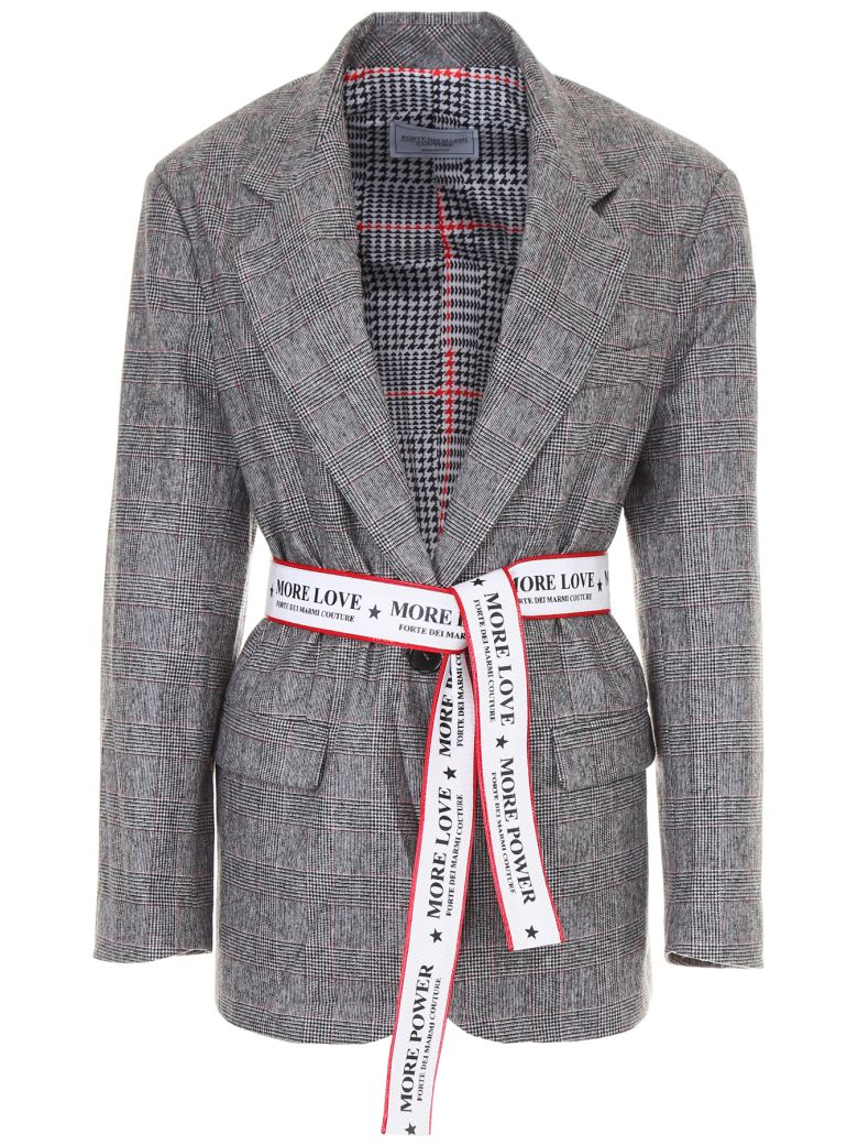 FORTE COUTURE OVERSIZED BLAZER WITH LOGO BELT
