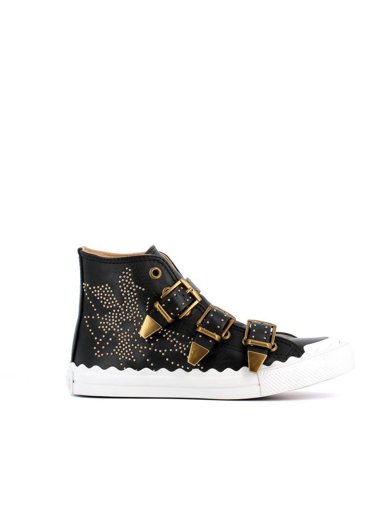 """Chloé """"kyle"""" Buckled Hi-top Sneakers - Black"""
