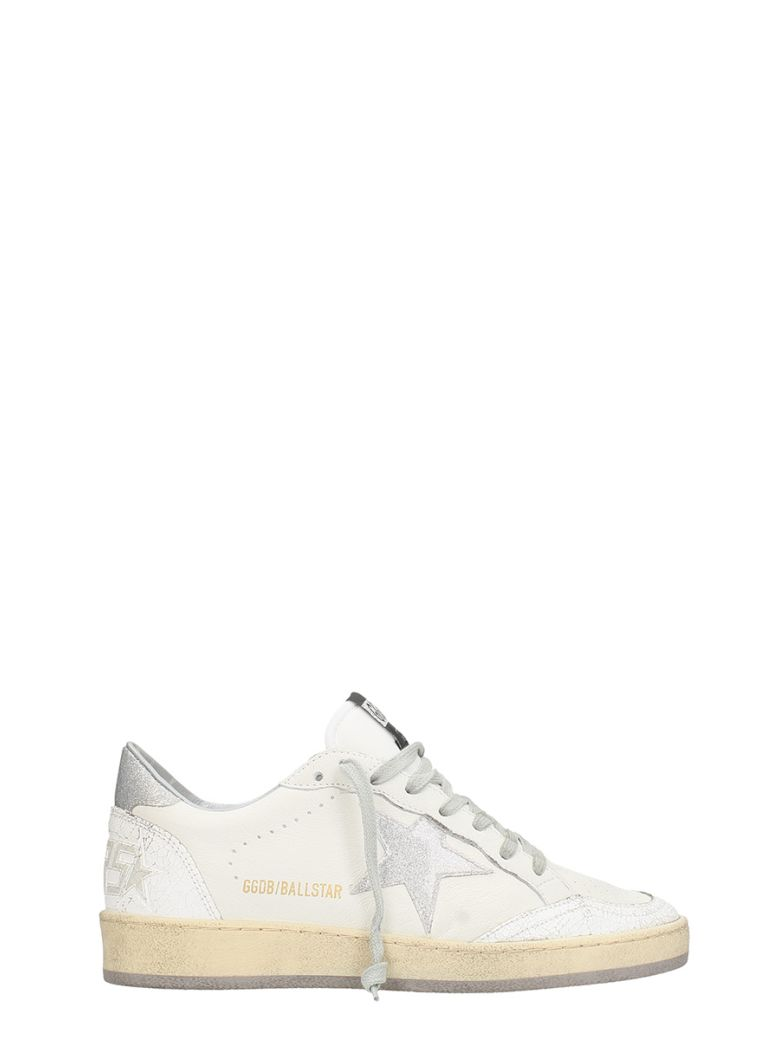 BALL STAR WHITE LEATHER SNEAKERS