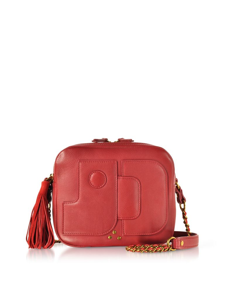 PASCAL LIPSTICK RED LEATHER SHOULDER BAG