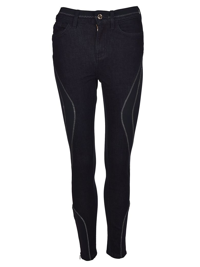 TOMMYXGIGI Skinny Trousers in Dark Blue
