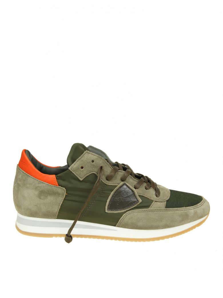 Philippe Model Sneakers SNEAKERS TROPEZ IN GREEN MILITARY SUEDE