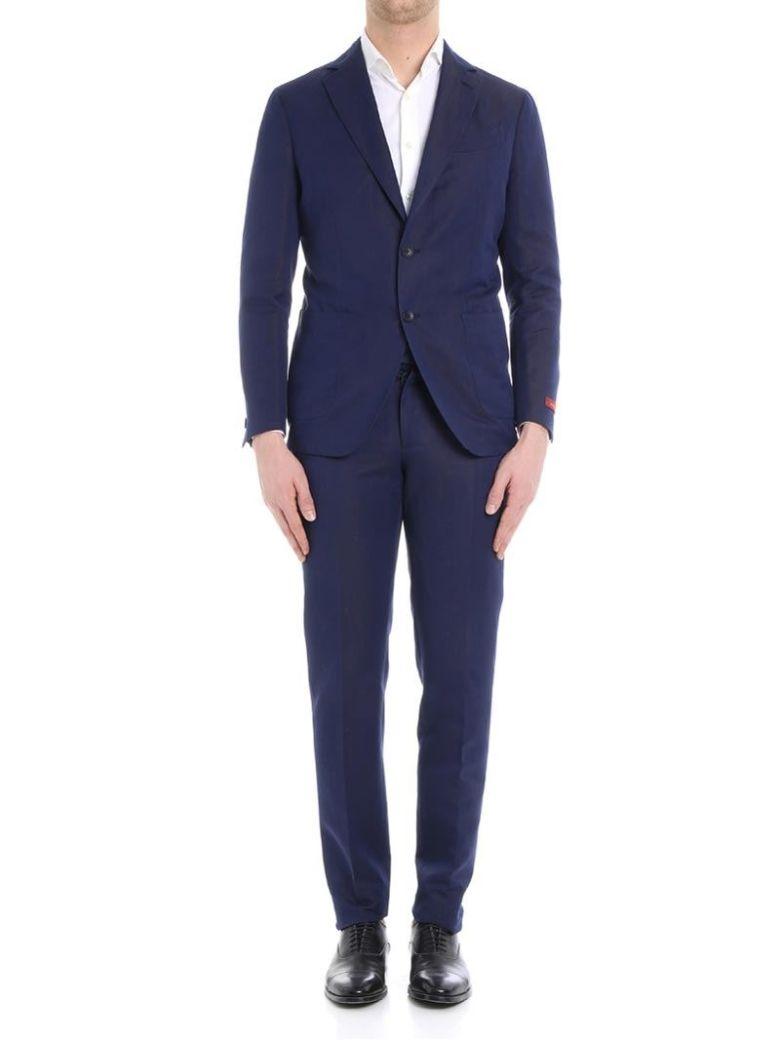 ERNESTO ESPOSITO Ernesto Cotton And Linen Suit in Blue