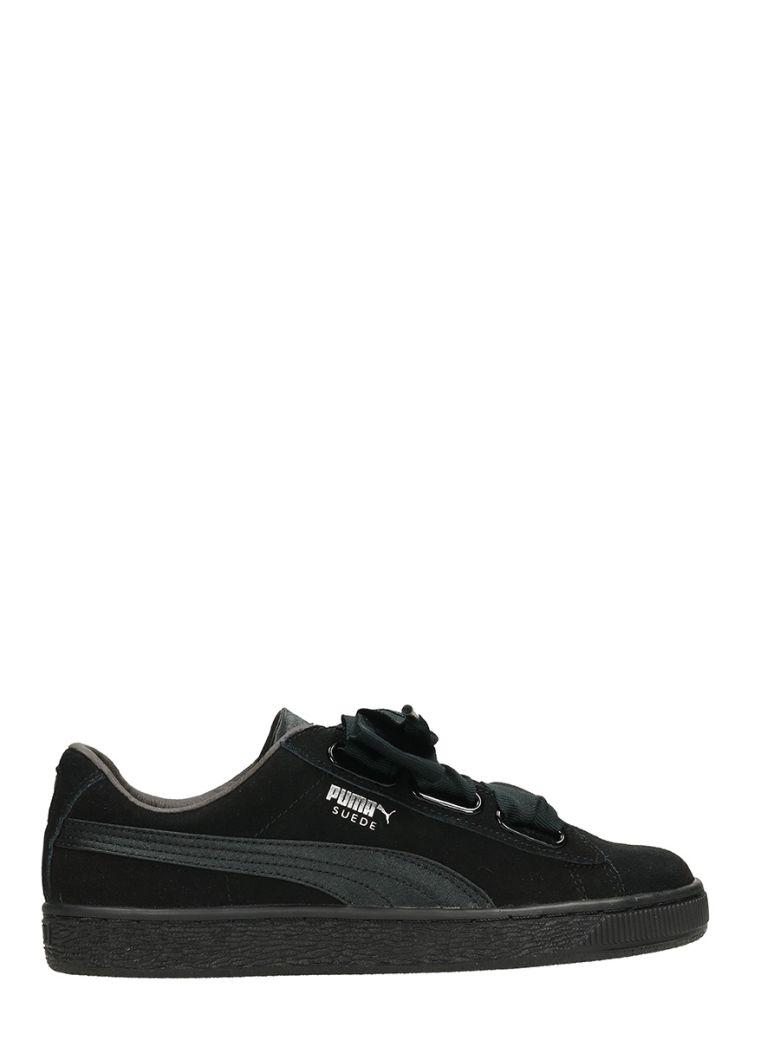 Suede Heart Ep Sneakers, Black