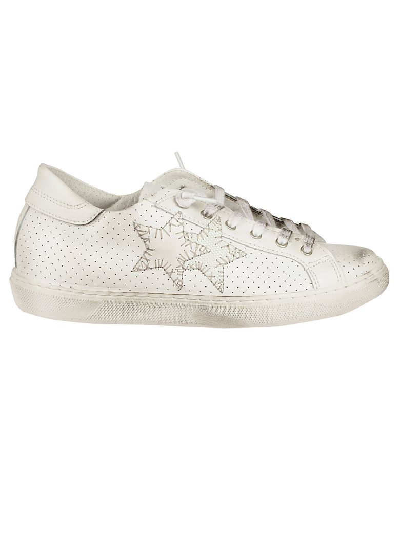 2STAR PERFORATED SNEAKERS