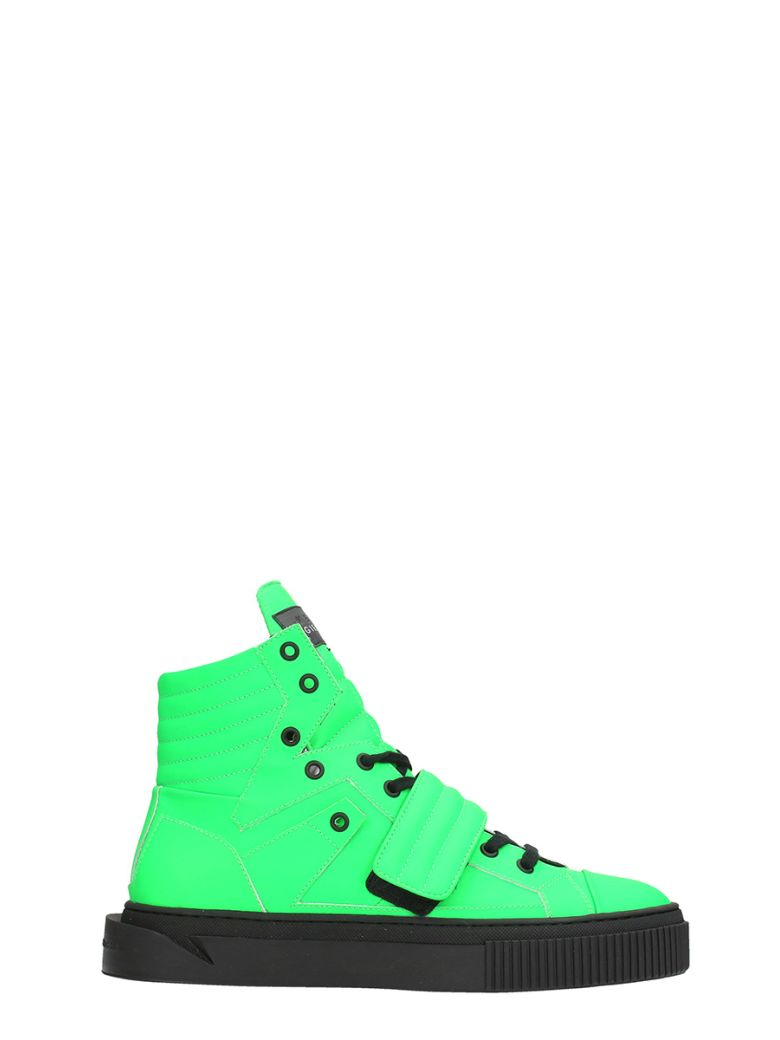 GIENCHI HYPNOS GREEN RUBBER SNEAKERS