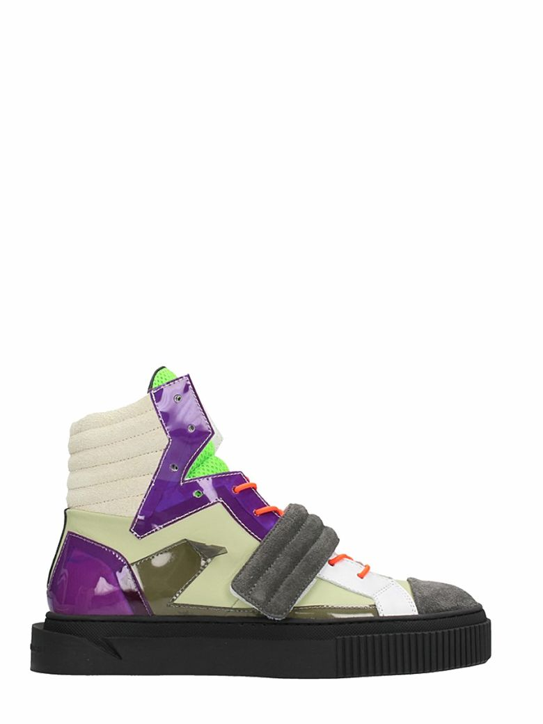 GIENCHI HYPNOS MULTICOLOR SUEDE AND LEATHER SNEAKERS