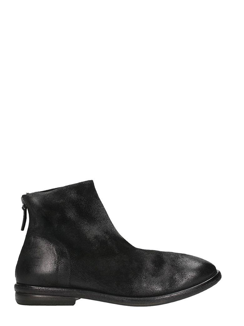 MARSÈLL Black Leather Boots