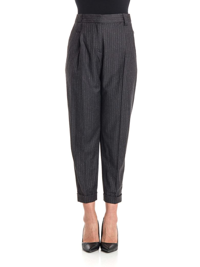 NEWYORKINDUSTRIE Cotton Trousers in Anthracite