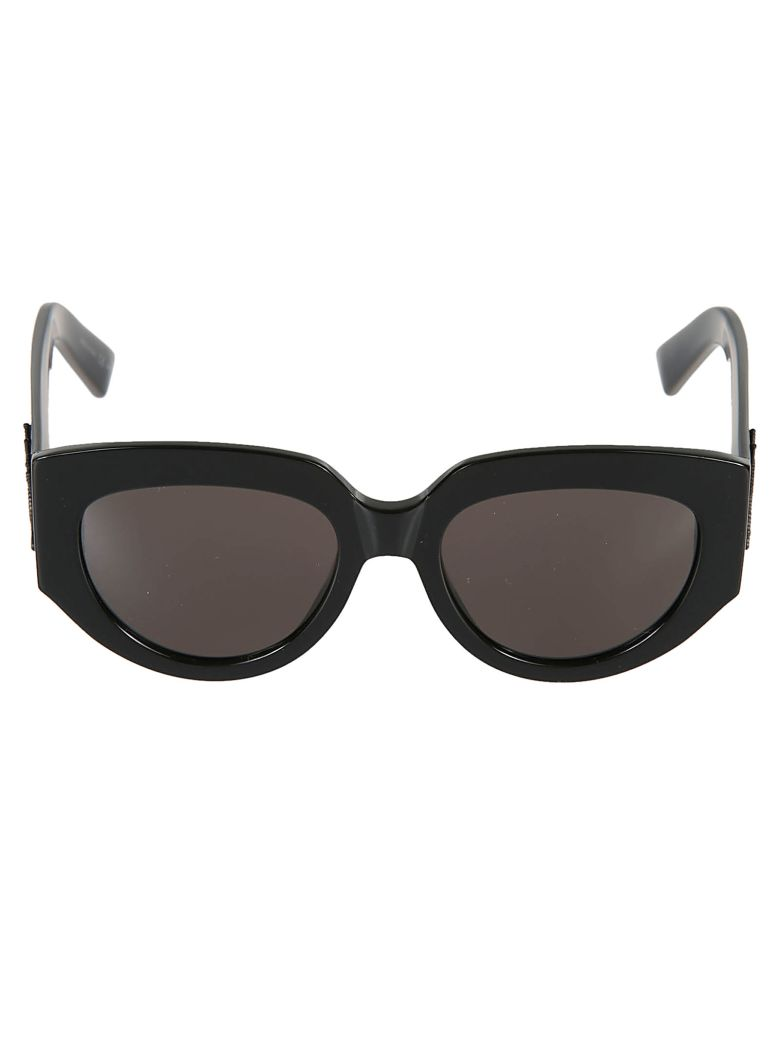 fa61e1002f Saint Laurent Thick Framed Sunglasses In Black Grey
