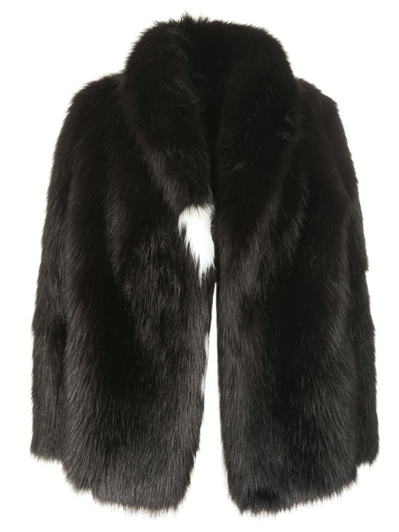 Fake Fur Rap Jacket In Black