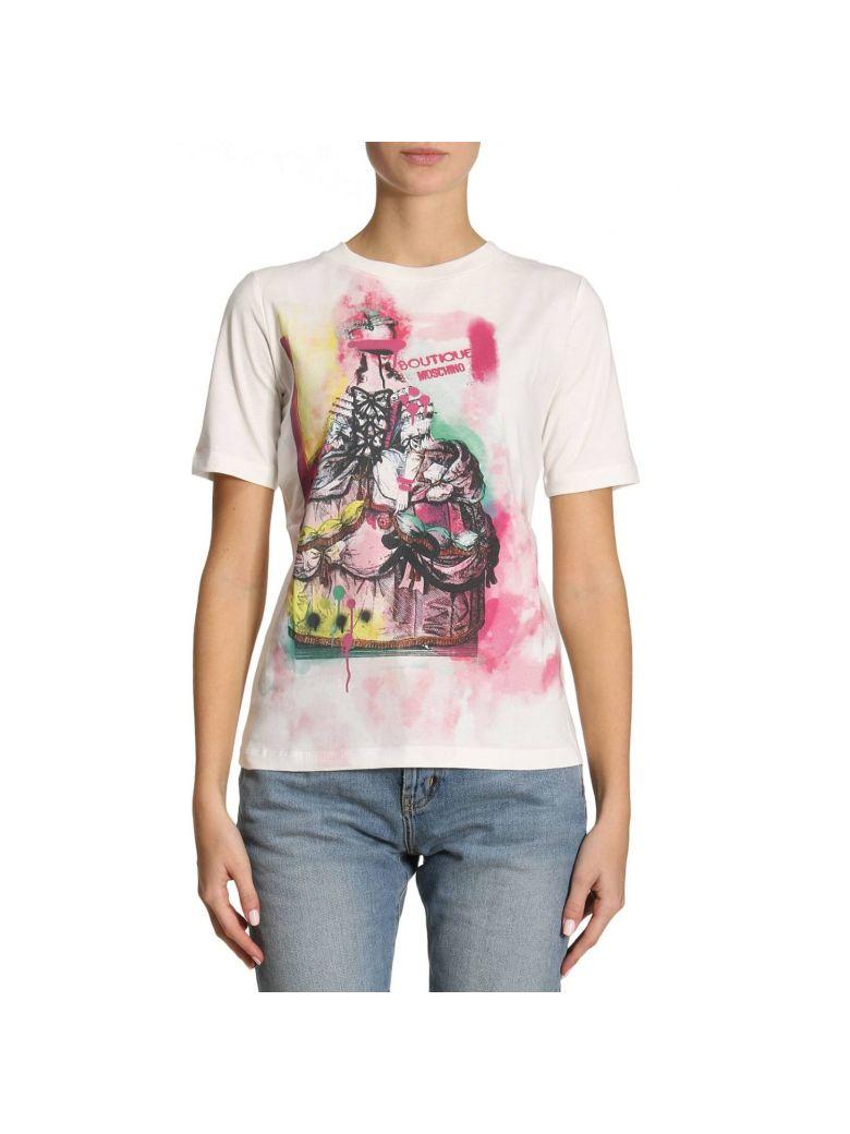 BOUTIQUE MOSCHINO Graffiti Printed T-Shirt, Multicolor