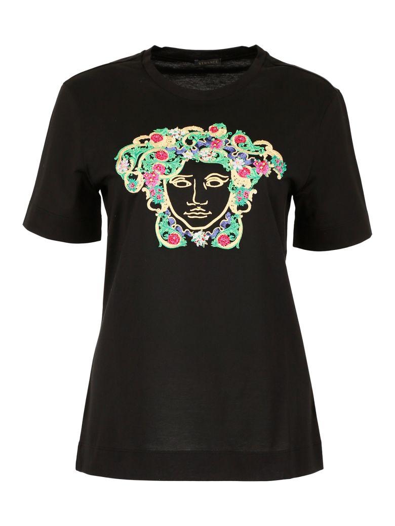 Versace Embroidered Medusa T-shirt - NERO|Nero