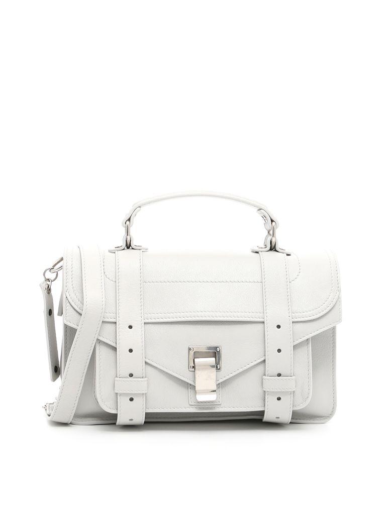 Proenza Schouler Lux Leather Ps1 Tiny Bag In Pale Steel   ModeSens 5811c255de