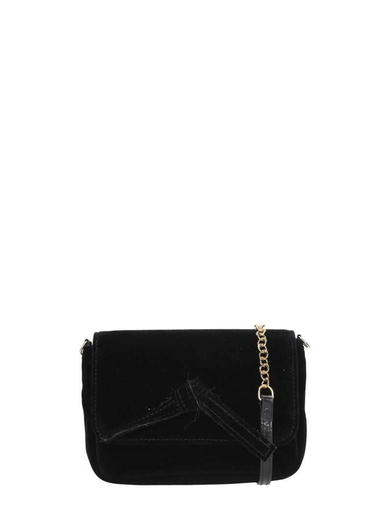 BLACK VELVET MINI BAG