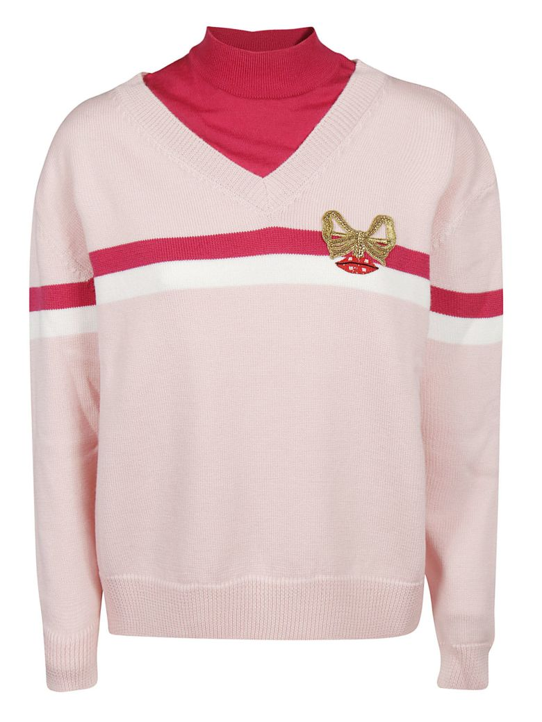 Vivetta V-neck Sweater - Pink