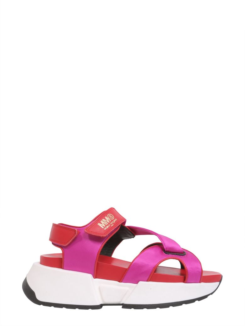 Sandals With Oversize Sole, Fucsia