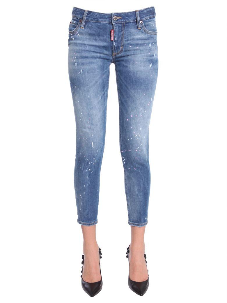 Meedium Waist Cropped Twiggy Jeans, Blu