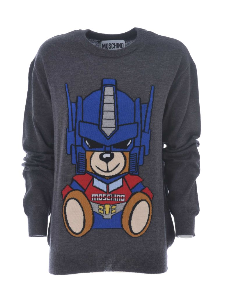 Transformer Bear Jumper, Grigio Scuro Melange