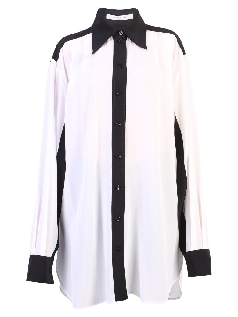 Givenchy Silks WHITE CONTRAST PIPING SHIRT