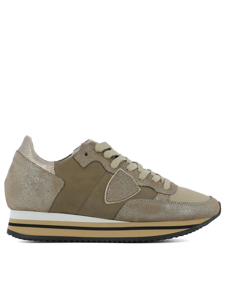 Philippe Model  BROWN LEATHER SNEAKERS