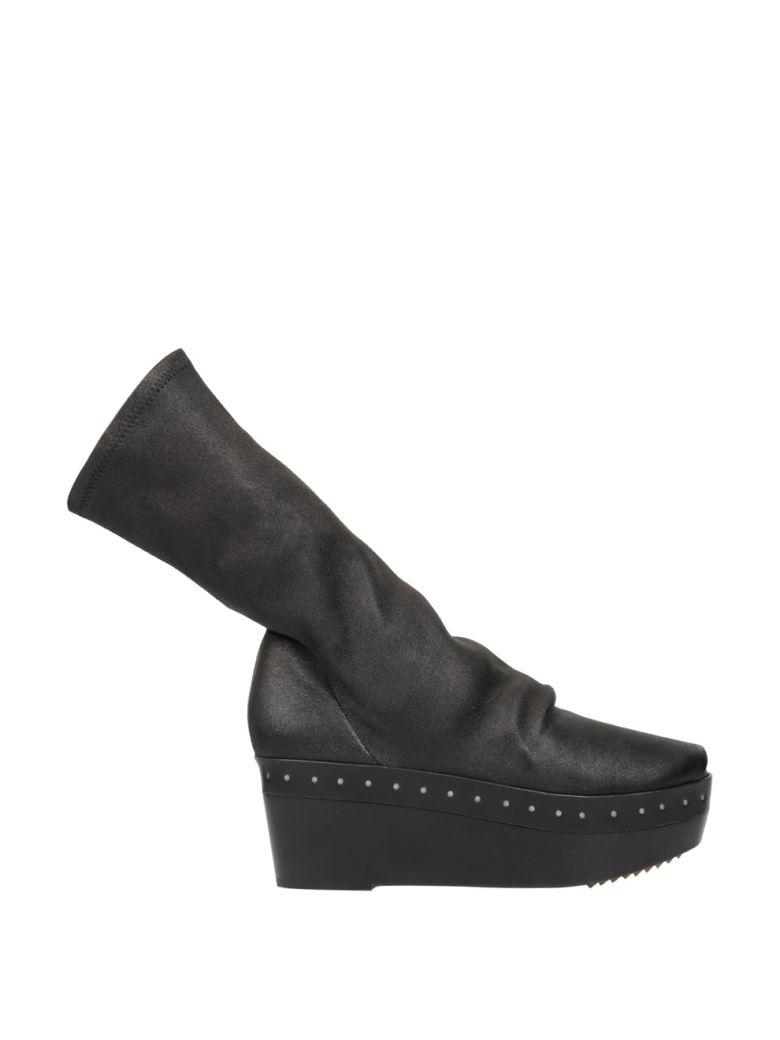 Nappa Leather Sock Mules, Nero