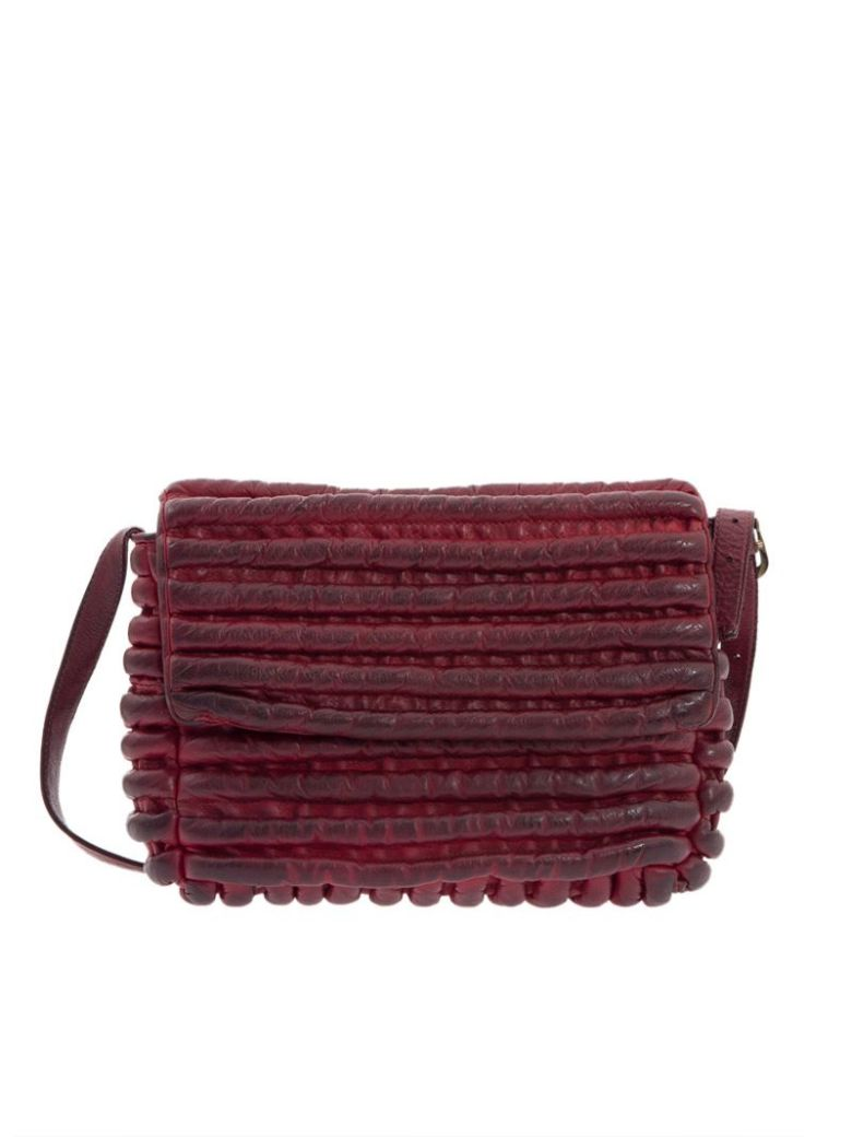 MAJO - Leather Bag in Red