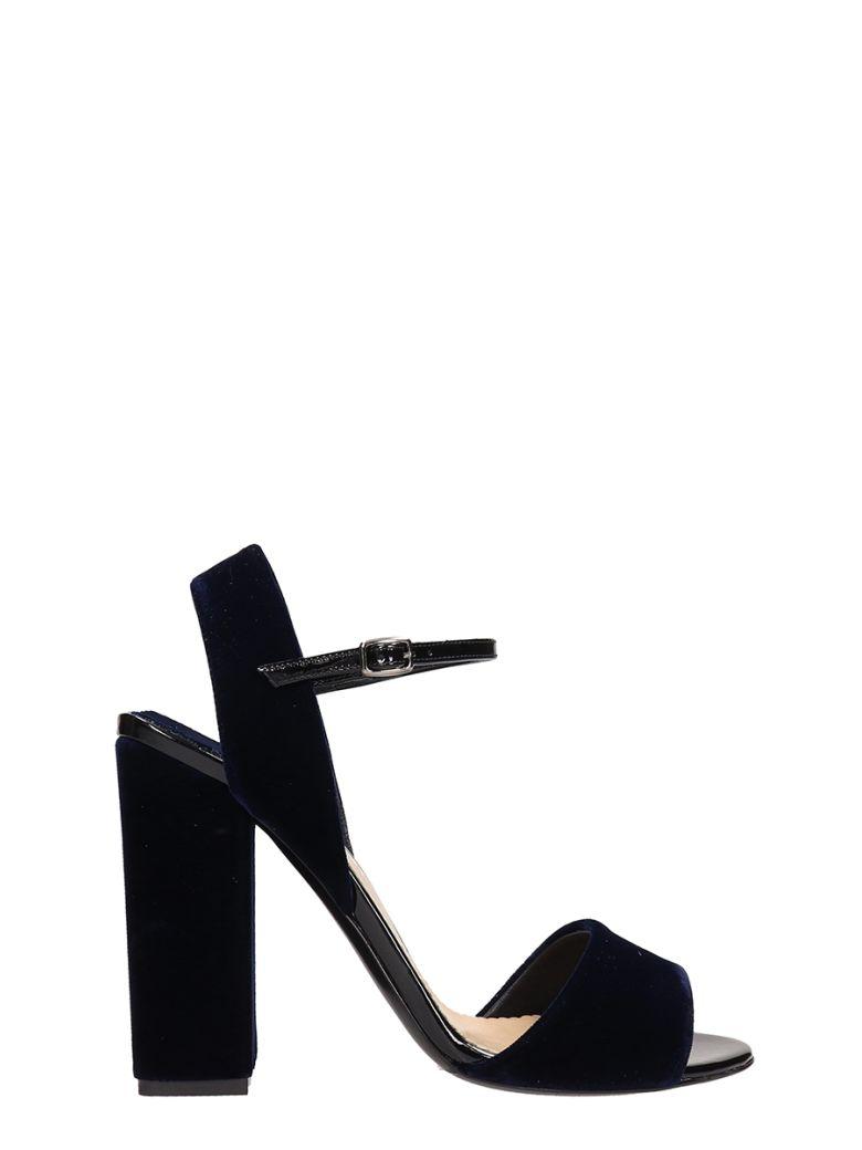 The Seller Blue Velvet Sandals - blue
