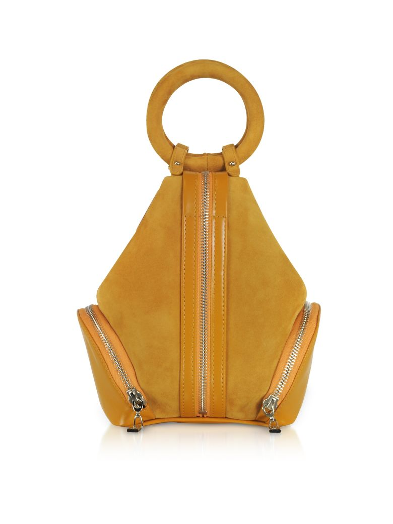 COMPLET MUSTARD YELLOW SUEDE EVE MICRO BAG