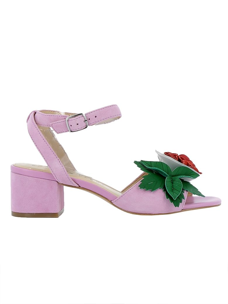 Katy Perry KATY PERRY PINK SUEDE SANDALS