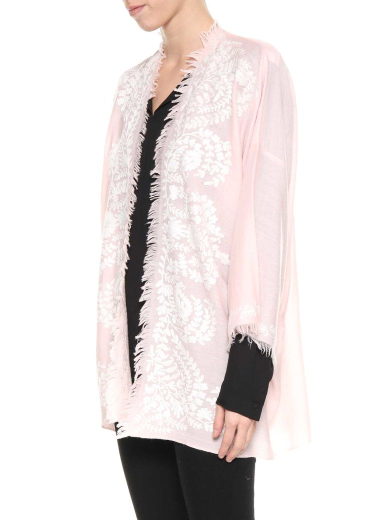 CONTRAST EMBROIDERED CARDIGAN