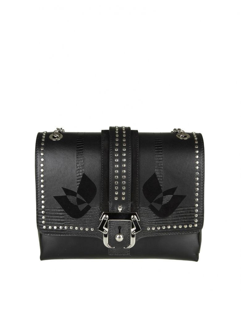 "Paula Cademartori ""CARINE LOVE"" SHOULDER WITH SMALL STUDDED LEATHER"