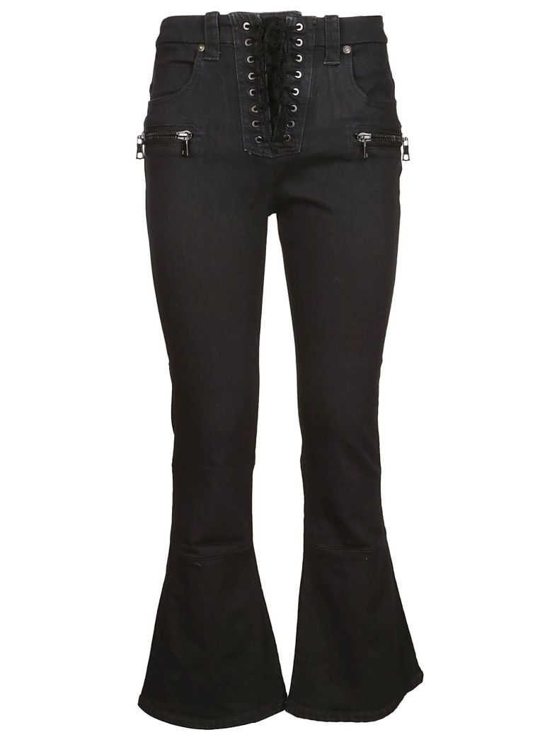UNRAVEL BY BEN TAVERNITI CROPPED FLARED JEANS