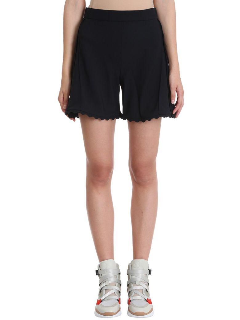 BLACK CREPE SHORTS