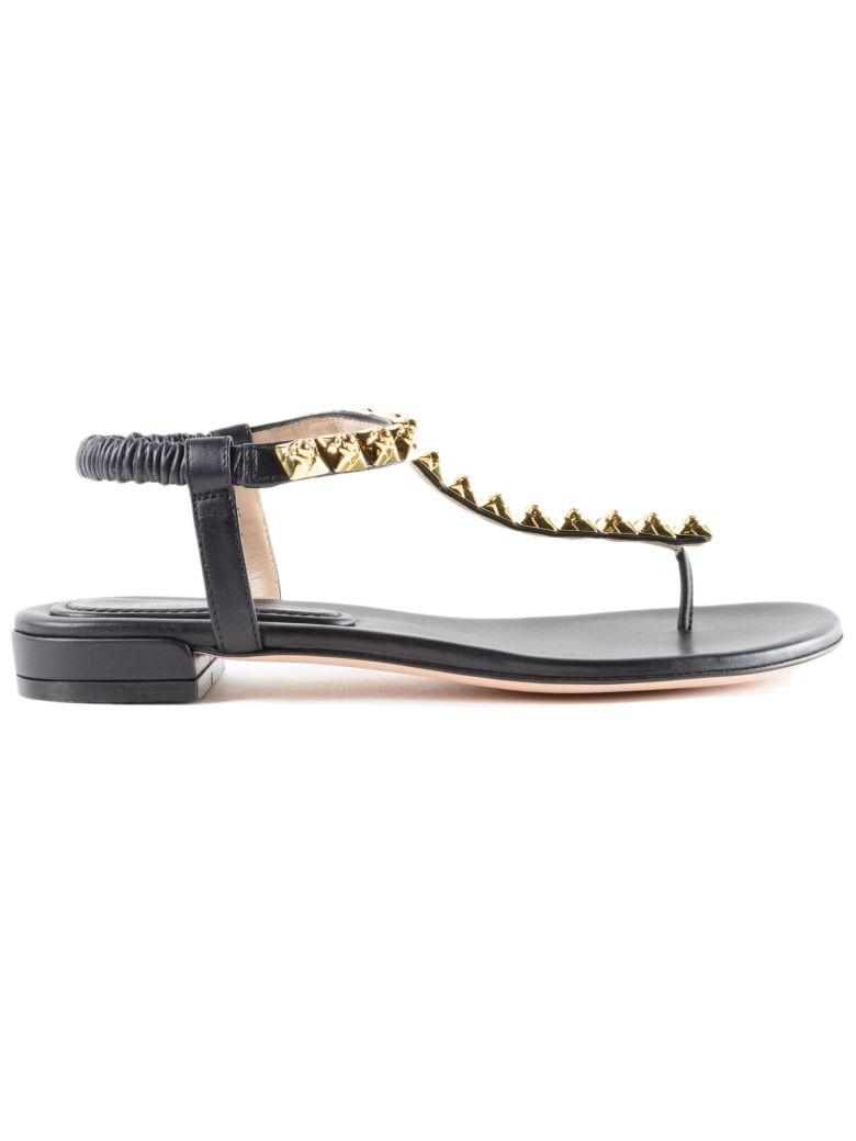 studded T-bar sandals