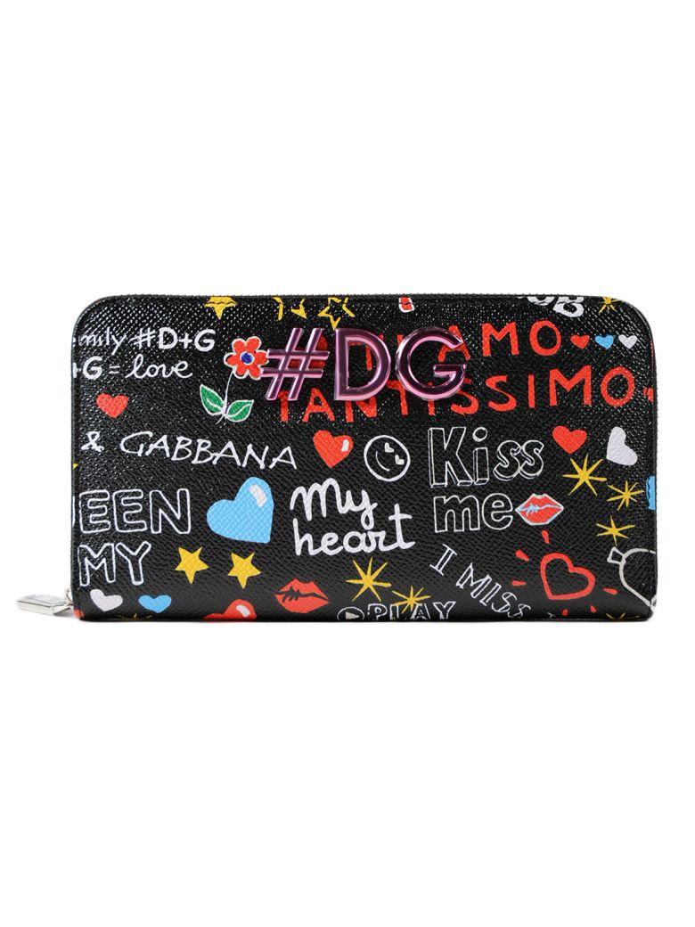 Dolce & Gabbana  PRINTED ZIP AROUND WALLET
