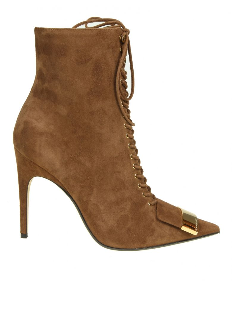 ANKLE BOOTS IN SUEDE COLOR SUEDE