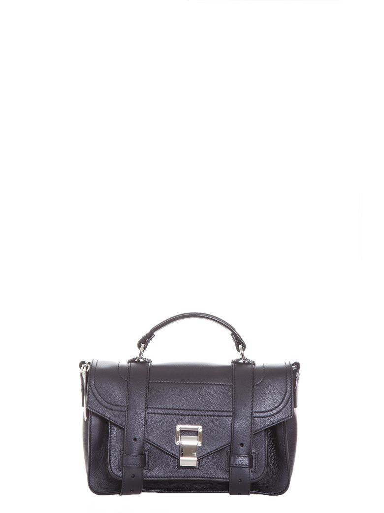 Proenza Schouler Ps1 Tiny Leather Shoulder Bag In Black   ModeSens 349ae59463
