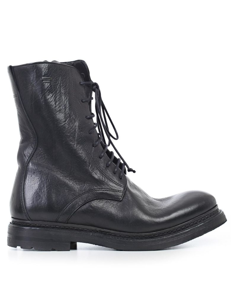 THE LAST CONSPIRACY ZIPPED DETAIL LACE-UP BOOTS
