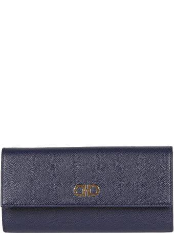Salvatore Ferragamo Logo Plaque Continental Wallet