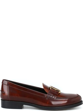Tod's Double T Oval Horsebit Loafers